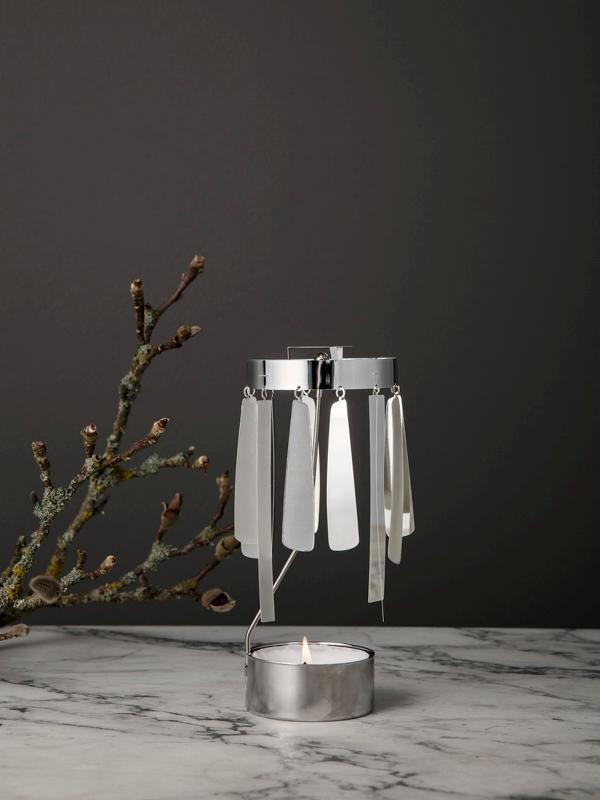Ferm Living Tangle Spinning Tea Light - SILVER