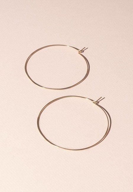 Fail Jewelry Thin Round Hoop - 14K Yellow Gold Fill