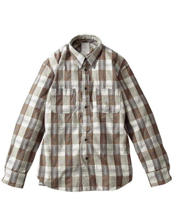 Soulive Cloudy Nel Button Up Shirt - Brown