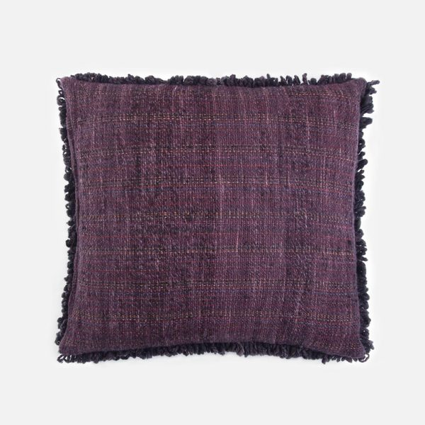 Someware Curly Oversized Pillow - Plum