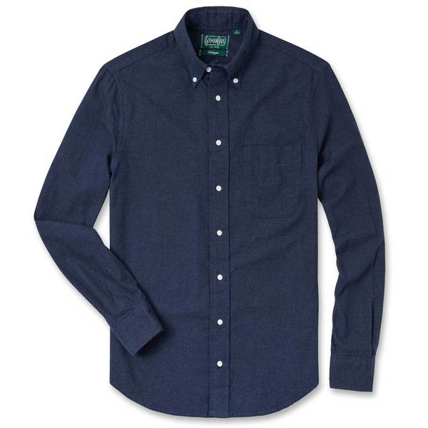 5f811cf8 Gitman Bros. Vintage flannel Button Down Shirt - Navy Classic | Garmentory
