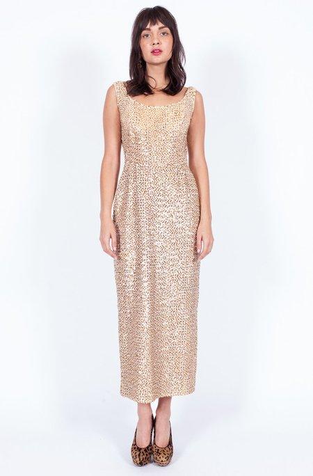 Yo Vintage! Sequined Dress - Gold