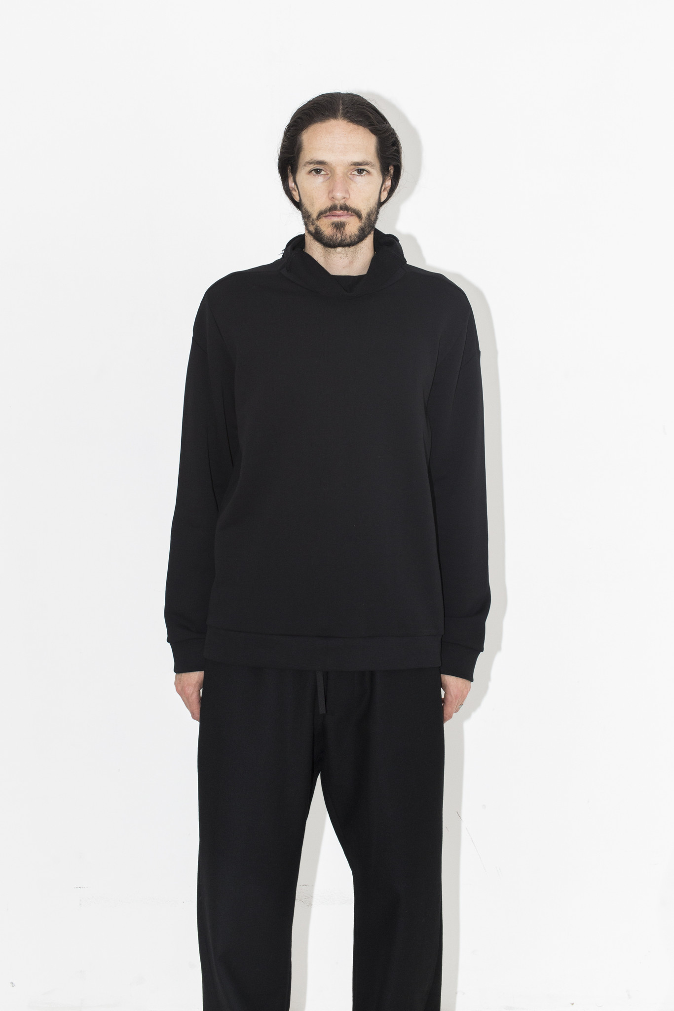 Men S Berthold Black Fleece Pullover Garmentory