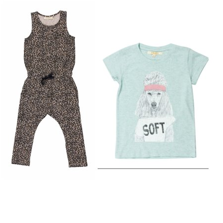 KIDS Soft Gallery Serpentine Jumpsuit/Lili Poodle Tee Bundle