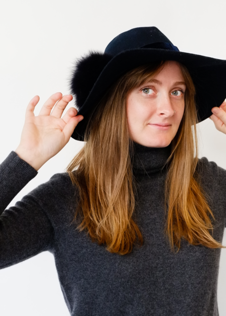 Hat Attack Luxe Cameron Pom Trim Hat