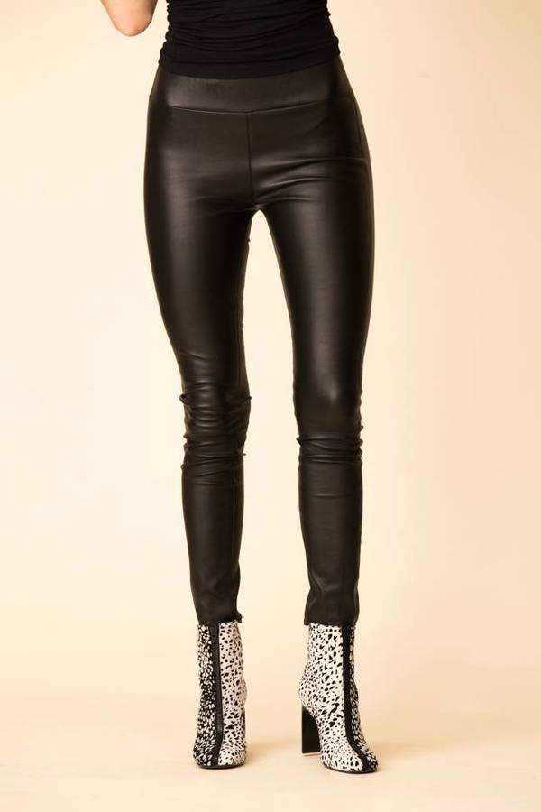SPRWMN Leather Leggings Black on Garmentory