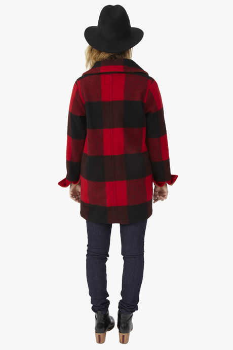 Woolrich Giant Buffalo Plaid Coat Red