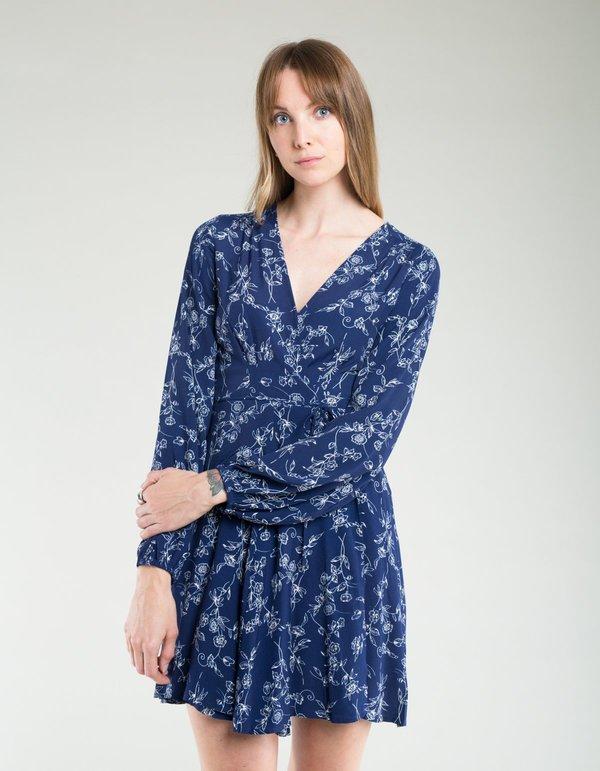 33fd2a06cb8693 Rollas Lily Dahlia Wrap Dress - Navy | Garmentory