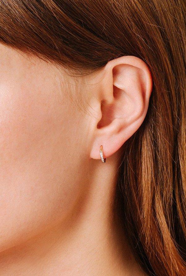 bce790503 Adina Reyter Pave Huggie Hoop Earrings - 14k Gold/White Diamond ...