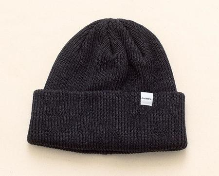 Druther's Recycled Cotton Knit Beanie - Charcoal
