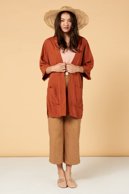 Whimsy + Row Frances Duster - Sunset