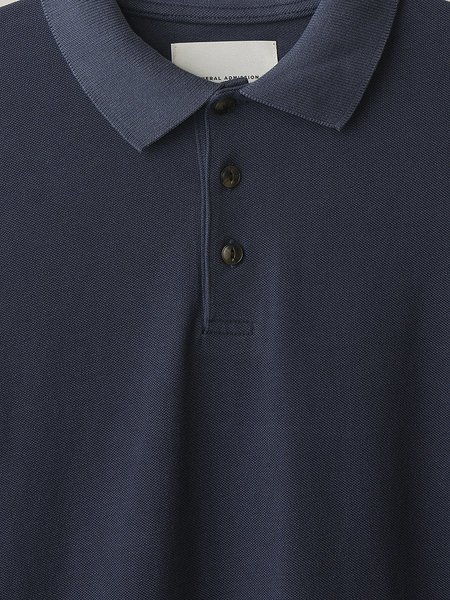 GENERAL ADMISSION Pique L/S Polo - Navy