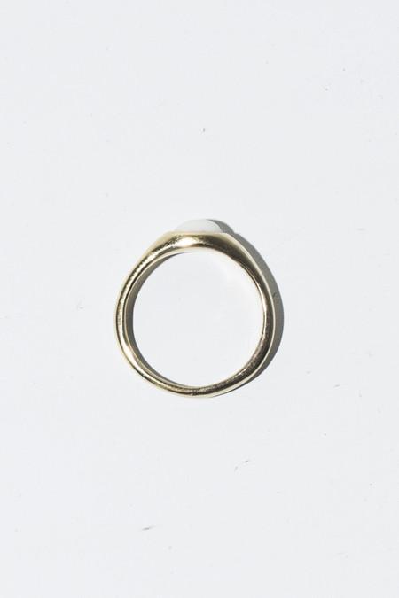 Nikolai Rose 14K Bone Round Set Ring