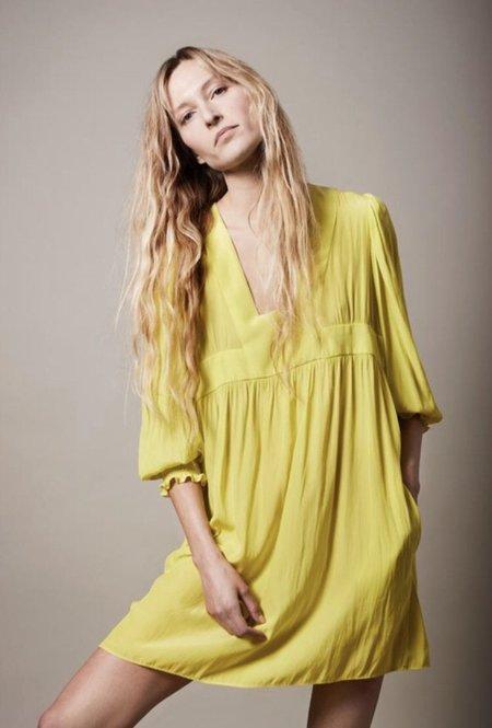 Smythe Mini Dirndl Dress - YELLOW