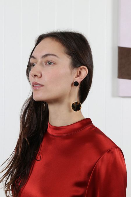 Rachel Comey Lhasa Earrings - Black/Tortoise