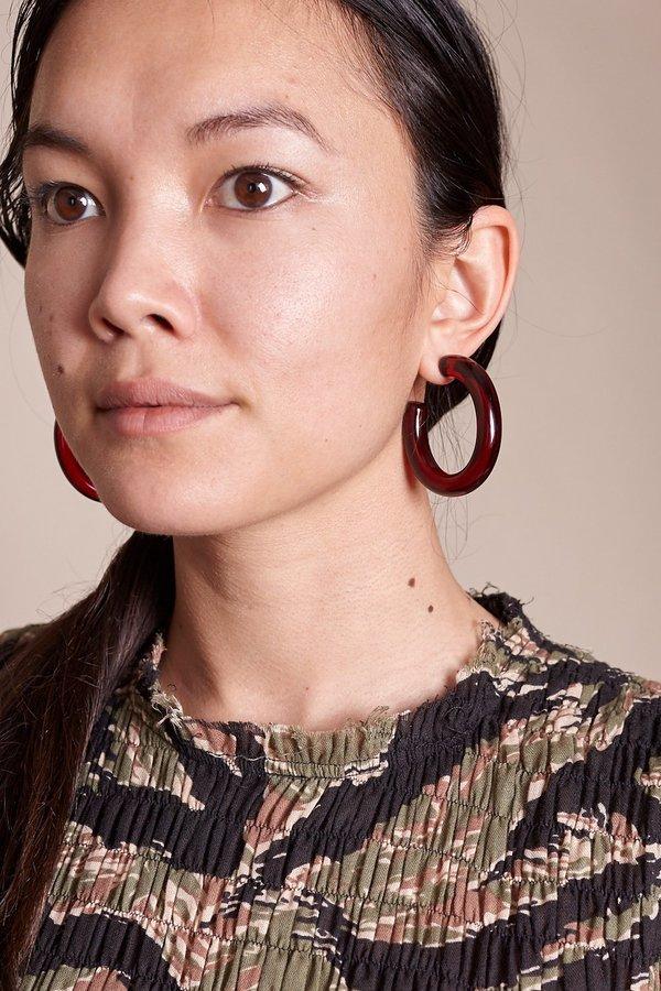 7516d840cff46 Lizzie Fortunato Rome Hoop Earrings - Burgundy on Garmentory