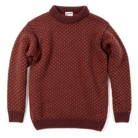 Unisex Devold Nordsjø Crew Neck Sweater - Mars & Rust