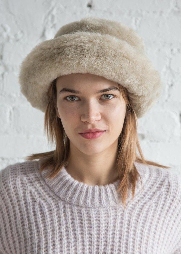 a4326141d43 Clyde Fur Bucket Hat Ecru