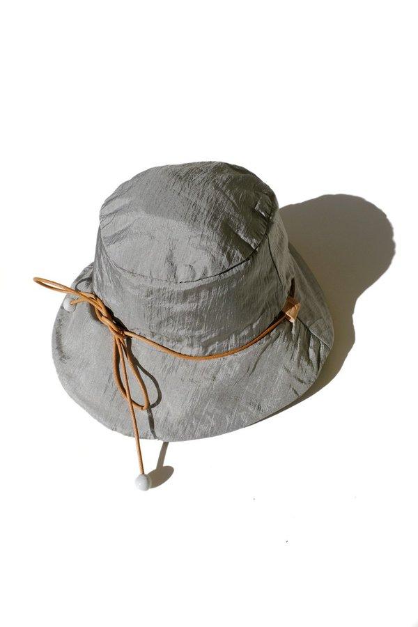 76233900a1dcd2 Jujumade Reversible Nylon Bucket Hat - Silver | Garmentory