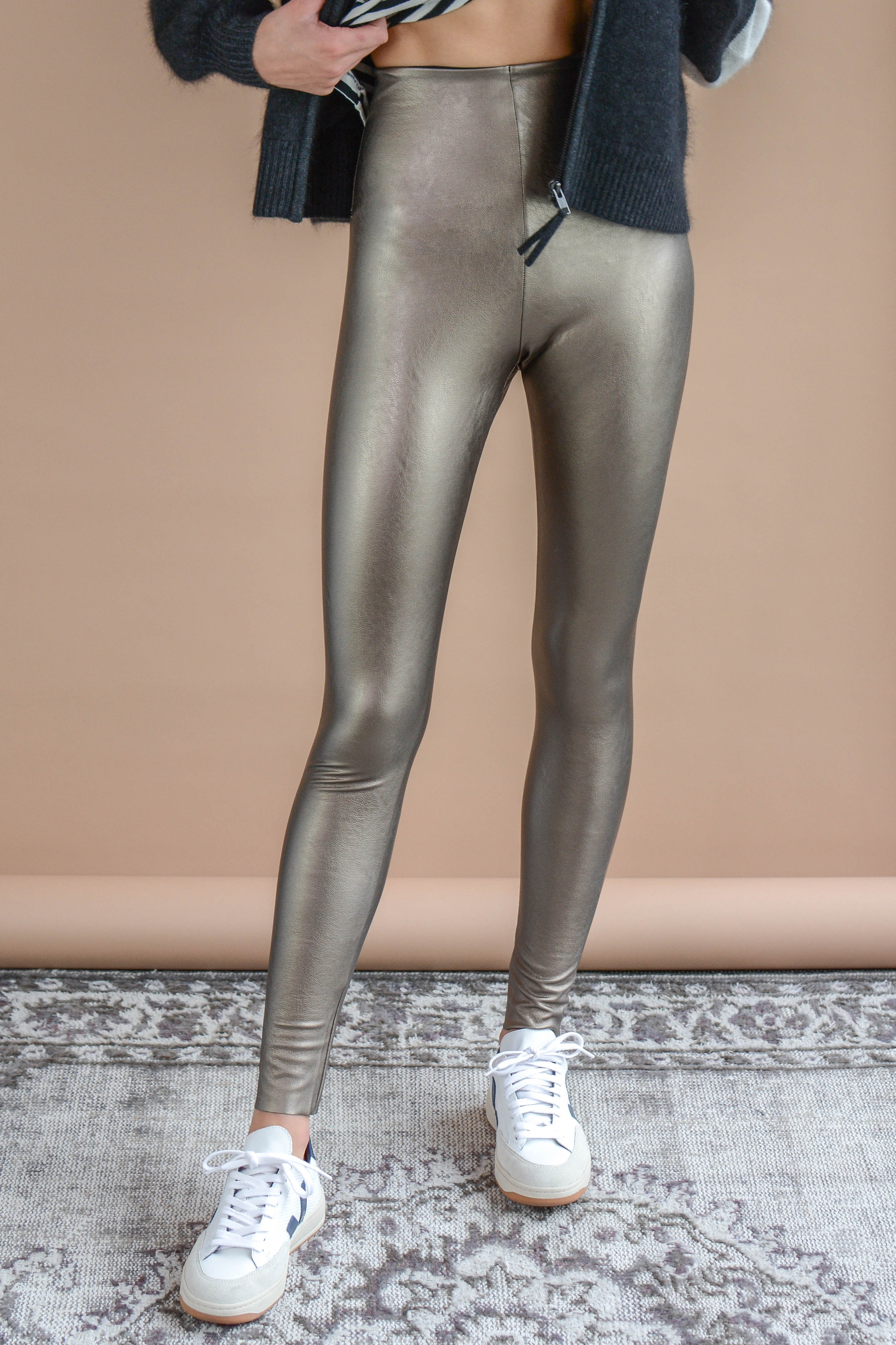 e654a294a78ba Commando Faux Leather Legging With Perfect Control - Bronze | Garmentory
