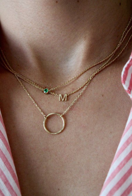 Lumo Initial Necklace - 14k Gold