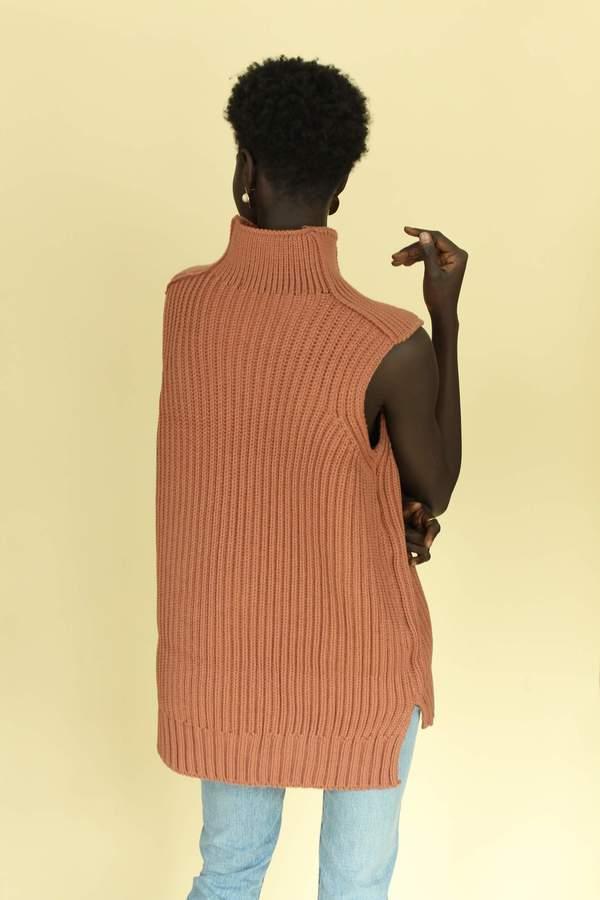 Lucca Knit Sleeveless Turtleneck - MAUVE