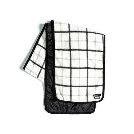 Eastlogue Quilting Scarf - White/Black Check