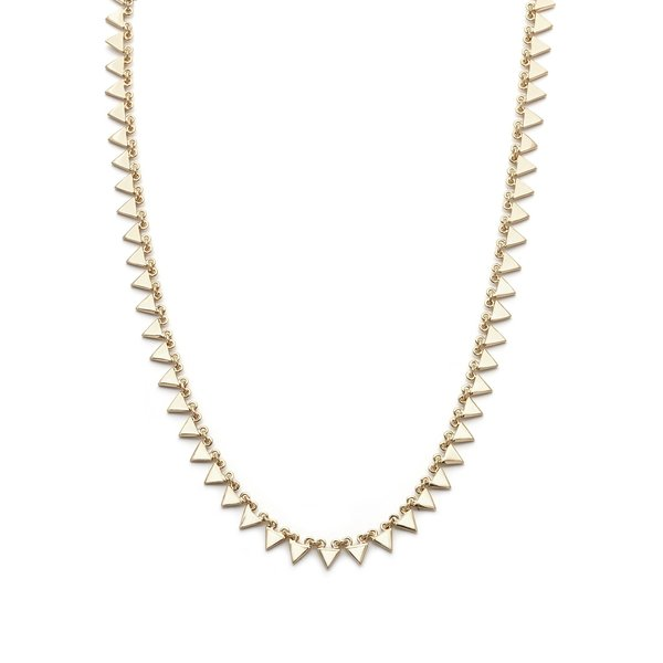 Melanie Auld Afla Multi Triangle Necklace - Gold
