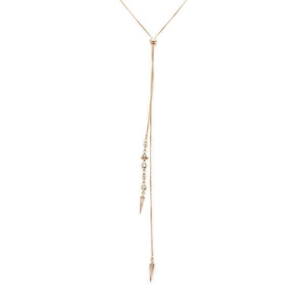 Melanie Auld Atlas Lariat Necklace - Gold