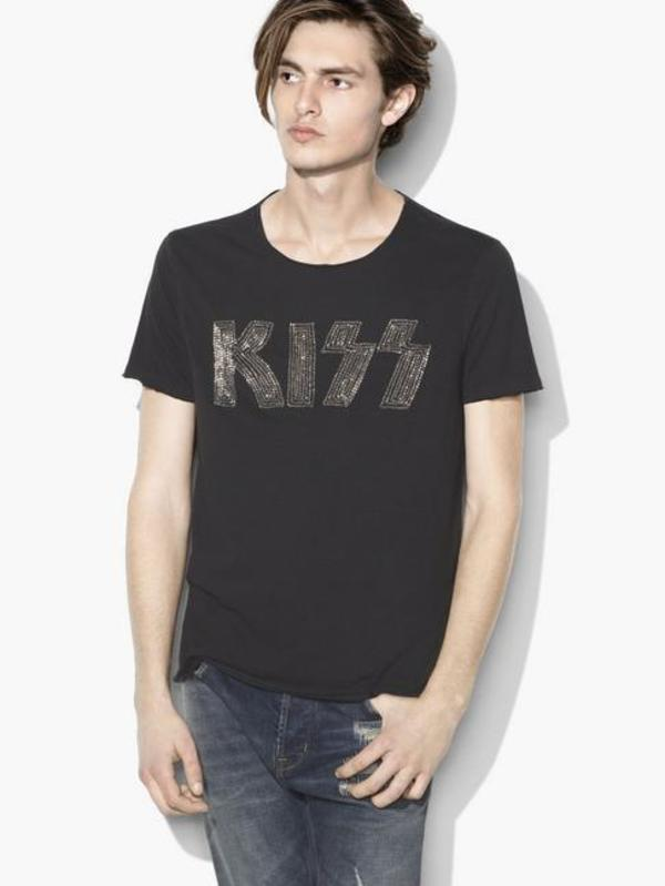 John Varvatos Star Usa Embroidered Kiss Logo Tee Garmentory