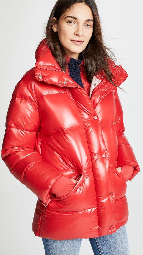 S.A.M New York Zoe Down Jacket - Cherry/Fiji