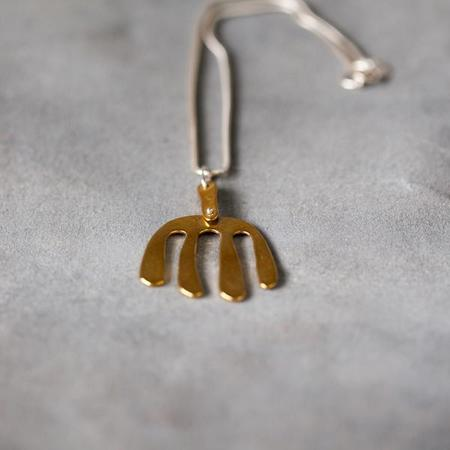 Seaworthy Malala Necklace Brass with Silver Chain