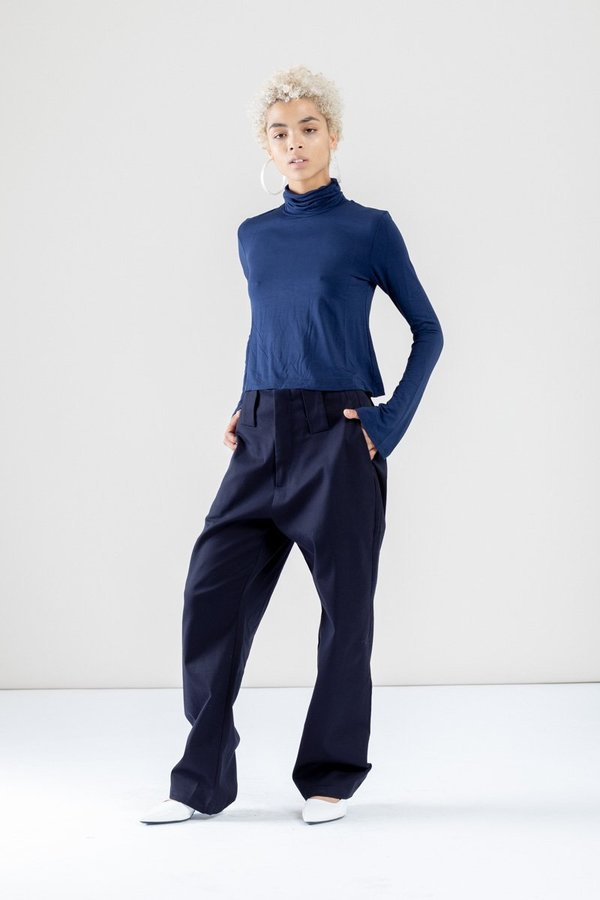 Toit Volant Mako Turtleneck - blue