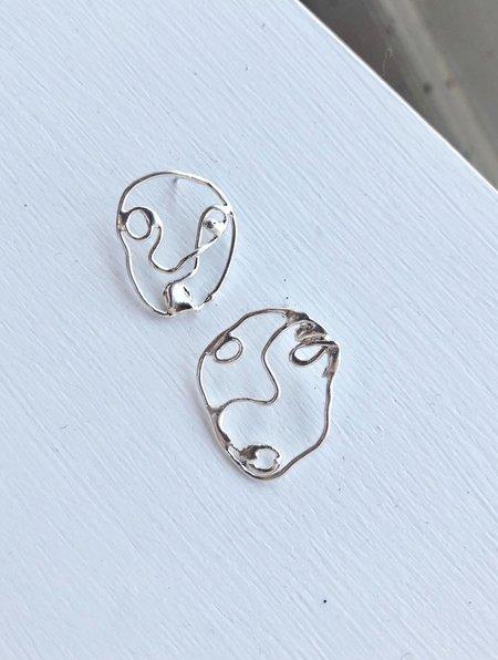 Basha Harris portrait earrings - Sterling Silver