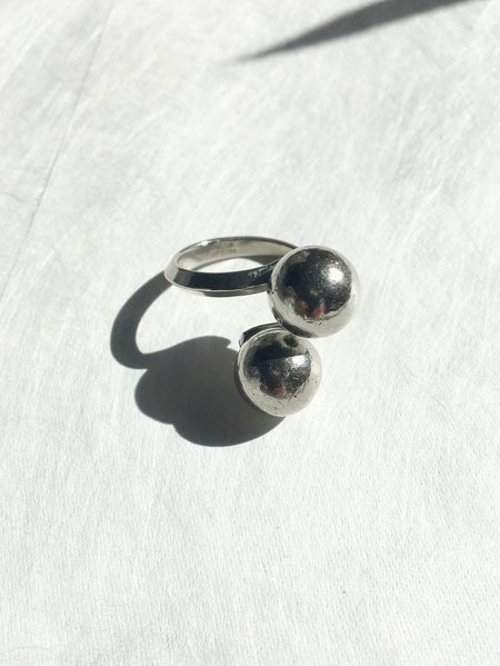 Vintage sterling ball ring