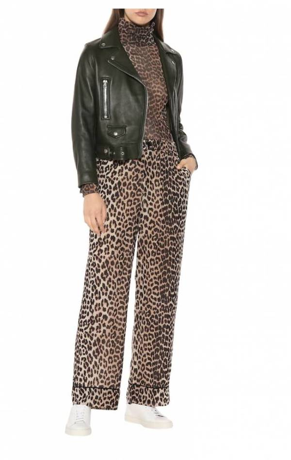 4a0b618c Ganni Mullin Georgette Pants - Leopard | Garmentory