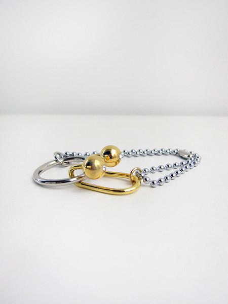 FAUX/real 3-Piece Puzzle Bracelet