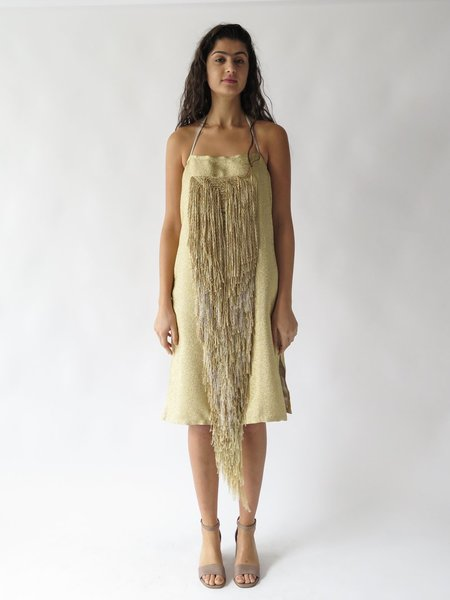 Erica Tanov tilden dress - gold