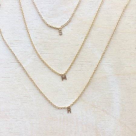 May Martin Fine Initial Necklace - 14k Gold