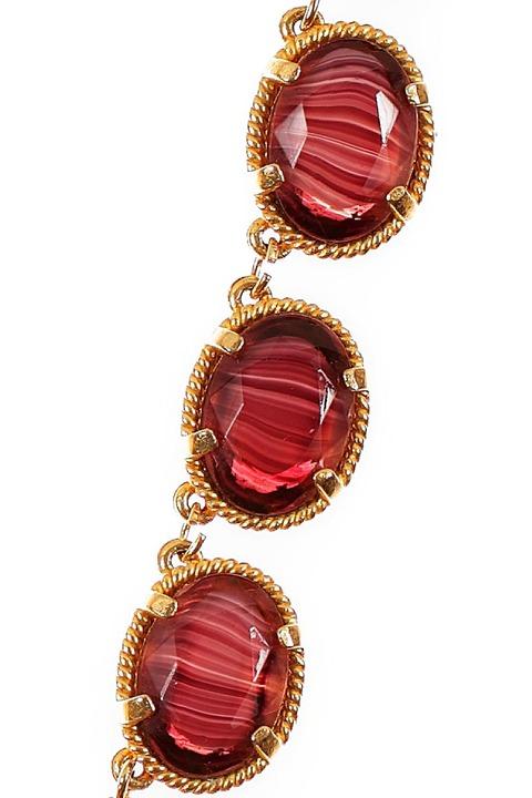 Mode Marteau Vintage Art Glass Necklace