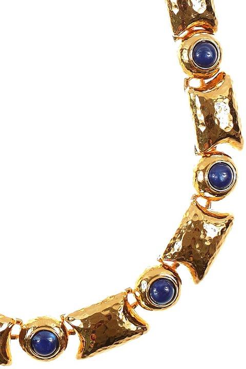 Mode Marteau Vintage Monet Cabochon Necklace
