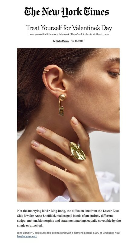 Bing Bang NYC Louvre Arc Earring Jacket with Sphere