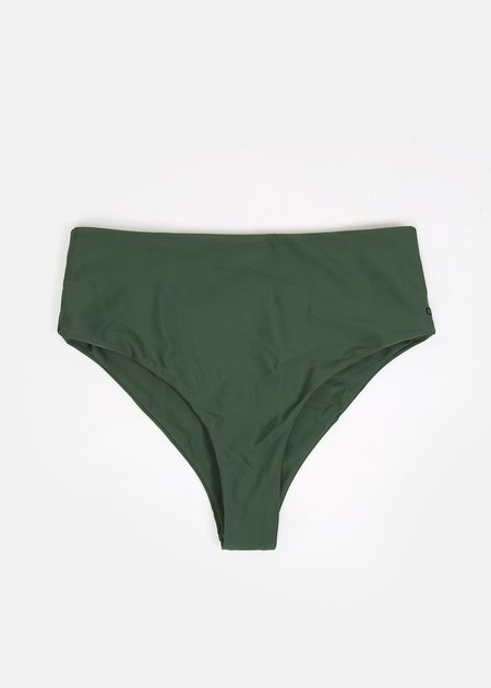 Ocin Hi Waisted Swim Bottom - Olivine