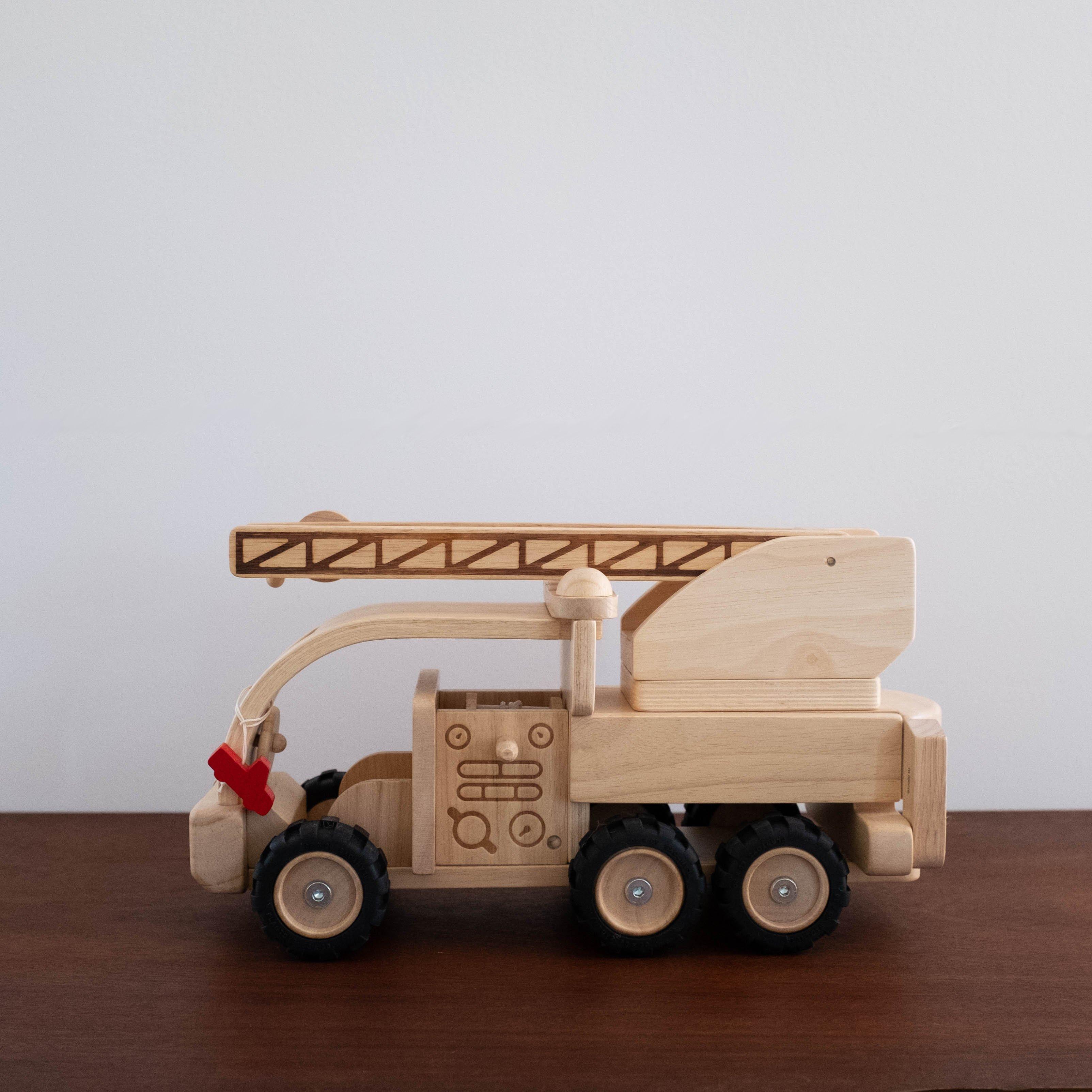 kids plan toys wooden firetruck toy