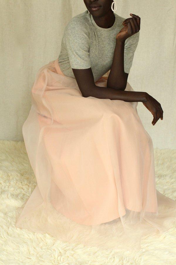 Vintage 1960's Chiffon Maxi Skirt - Peach