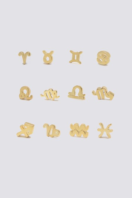 Bing Bang NYC Zodiac Studs - 14K Gold