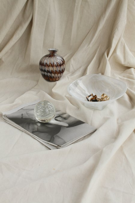 Found by Fourth Glass Bubble Paperweight