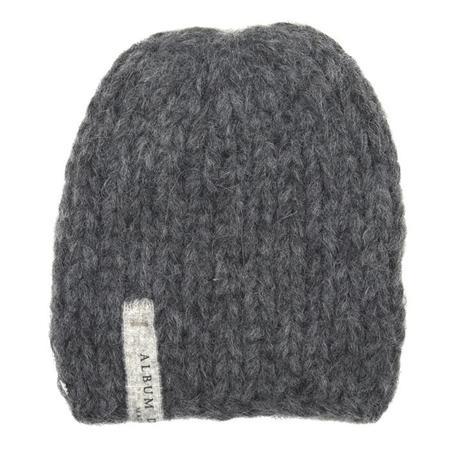 KIDS Album di Famiglia Calottina Hand Knit Alpaca Hat - Anthracite Grey