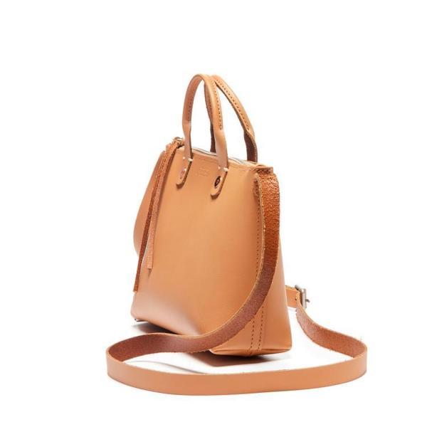 3a969774bbd7 FEED Leather Mini Eleanor Crossbody - TAN