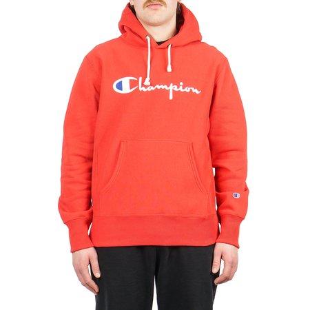 Champion HOODED SWEATSHIRT W/ FULL CHEST LOGO - SIDELINE RED